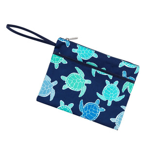 Myrtle Turtle Zip Pouch Wristlet (Lead Time 2 Weeks)