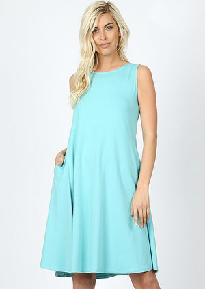 Twist Dress Color Mint