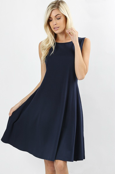Blueberry Twist Dress Color Navy,[product-type] - The Pink Silhouette
