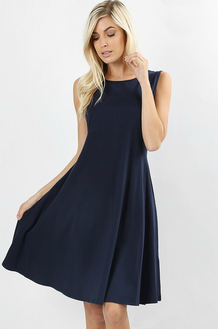 Blueberry Twist Dress Color Navy