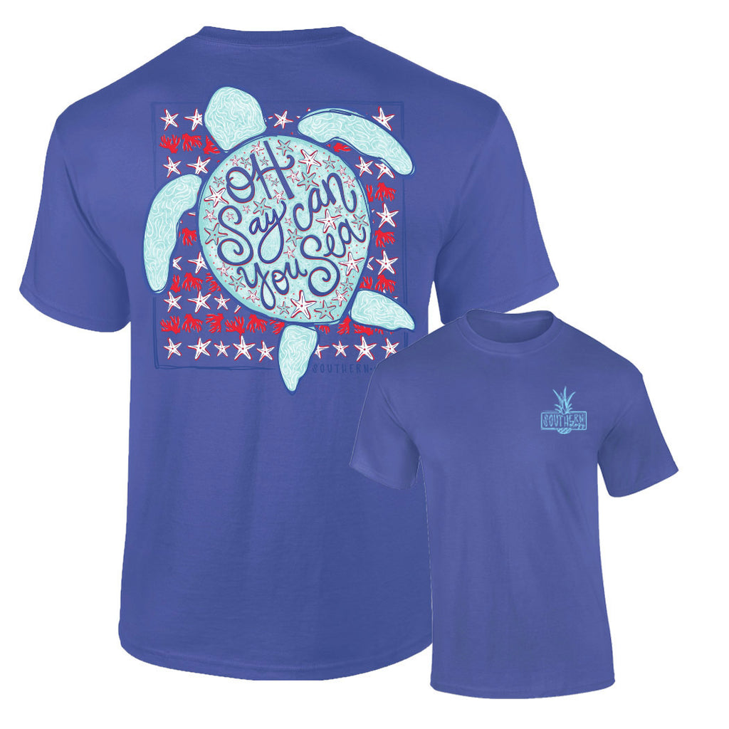 Southernology - Oh Say Can You Sea Tee Shirt (Lead Time 2 Weeks)
