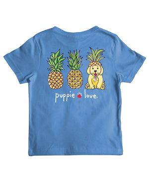 Youth Pineapple Disguise Pup Short Sleeve By Puppie Love (Pre-Order 2-3 Weeks)