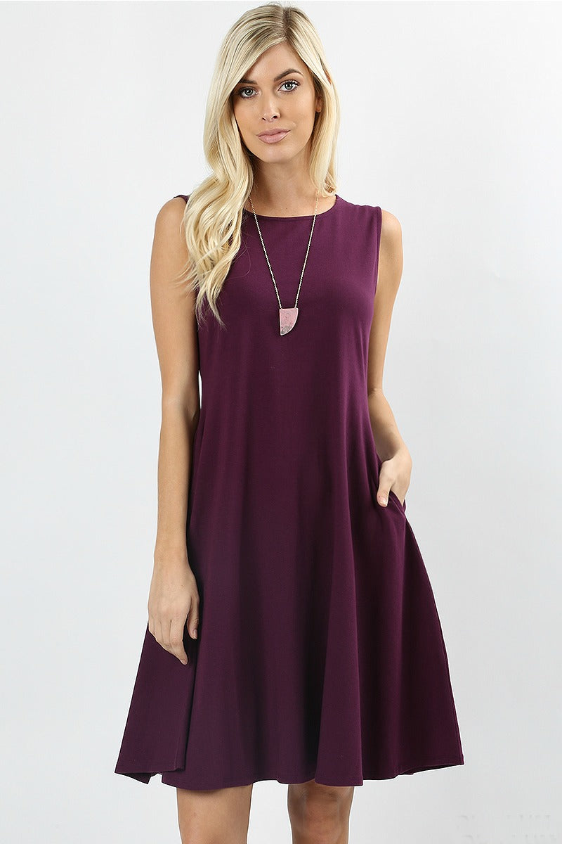 Plum Twist Dress Color Plum
