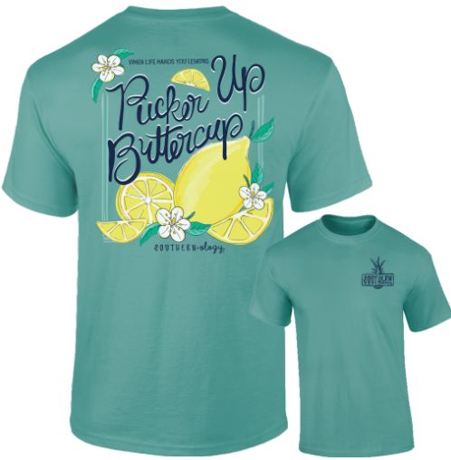 Southernology - Pucker Up Buttercup Tee Shirt (Lead Time 2 Weeks)