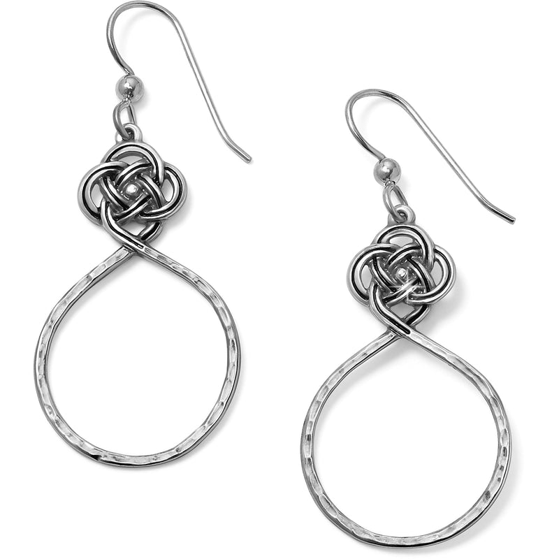 Interlok Petite Knot Circle French Wire Earrings by Brighton
