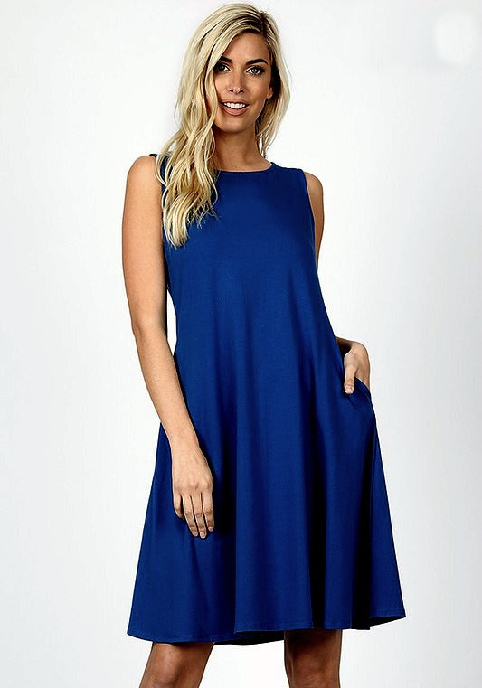 Blueberry Twist Dress Color Sapphire Navy