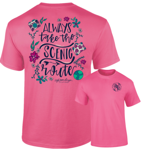 Southernology - Always Take The Scenic Route Tee Shirt (Lead Time 2 Weeks)