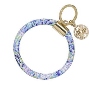 Lilly Pulitzer Round Keychain - Shell Of A Party ( Lead Time 2 Weeks)