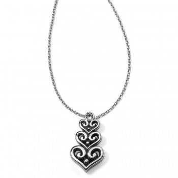 Alcazar Heart Trio Short Necklace by Brighton