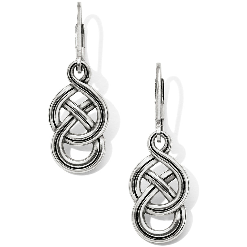 Interlok Braid Petite Leverback Earrings by Brighton