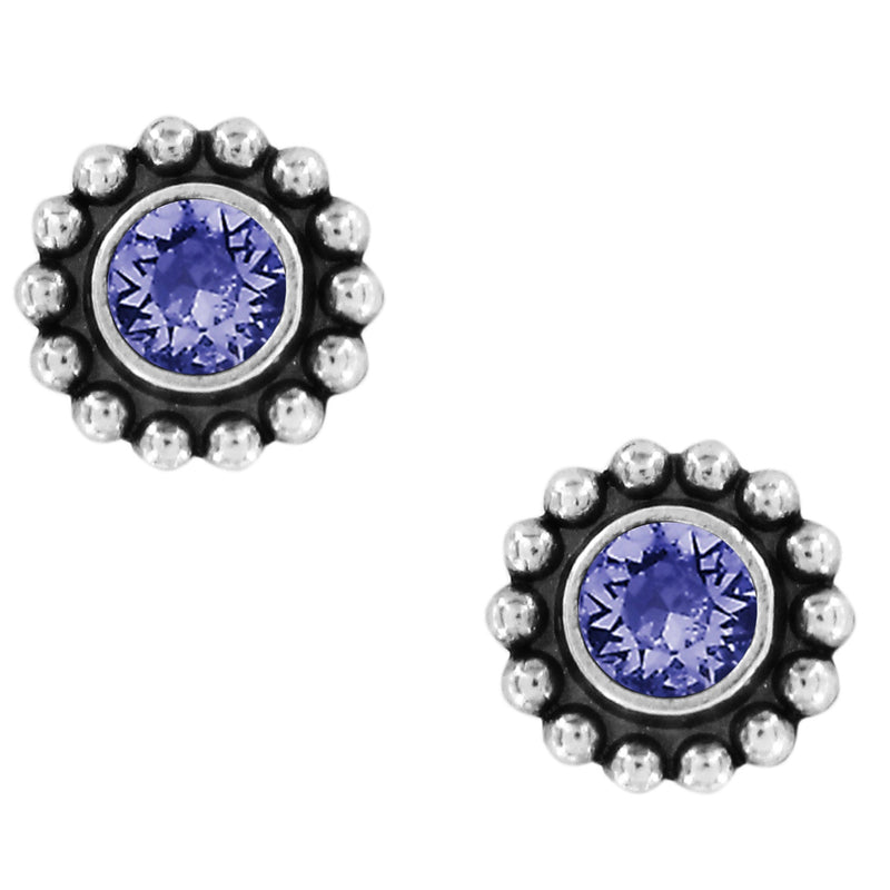 Tanzanite Twinkle Mini Post Earrings by Brighton