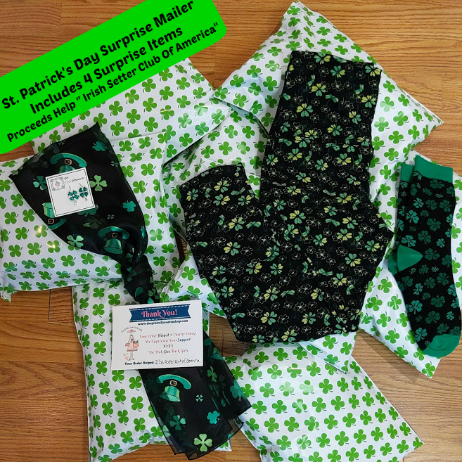 "St. Patrick's Day Surprise Mailer Supporting ""Irish Setter Club Of America""- (Ready To Ship)"