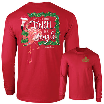 Southernology - Long Sleeve Flamingo Tinsel In A Tangle (Lead Time 2 Weeks)