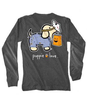 Trick Or Treat Pup Long Sleeve Tee By Puppie Love (Pre-Order 2-3 Weeks)