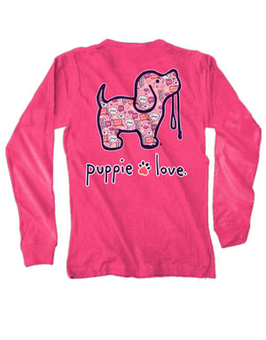 Youth Valentine's Convo Pup Long Sleeve By Puppie Love (Pre-Order 2-3 Weeks)