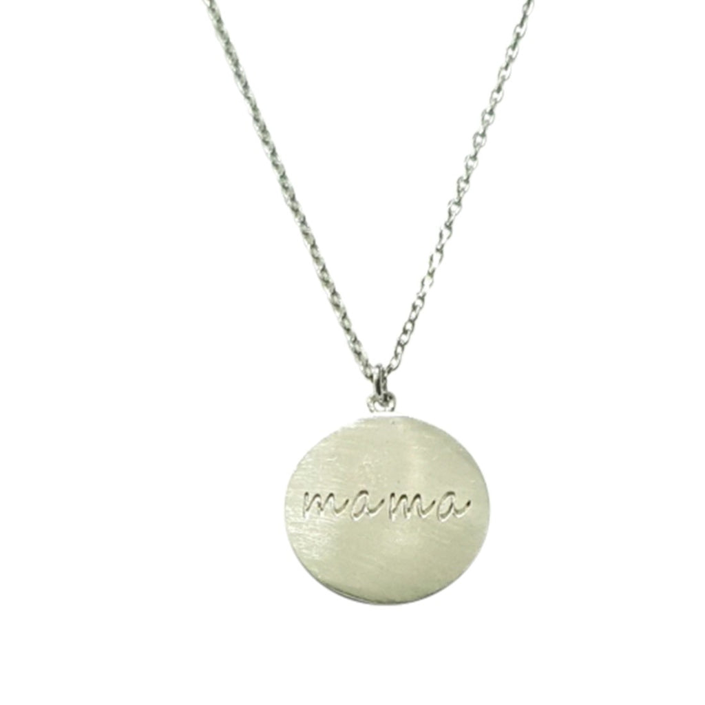 Silver Mama Disc Necklace