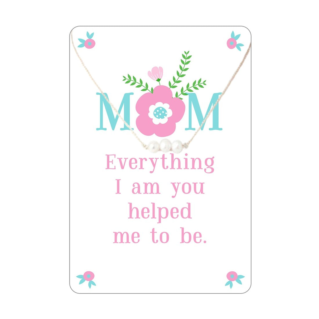 Mom Keepsake Necklace Card