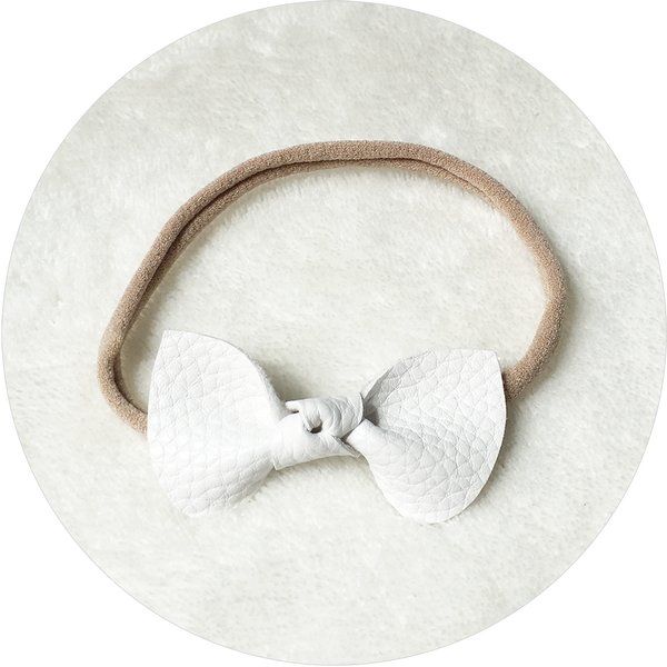 'Chalin' White Bow Headband
