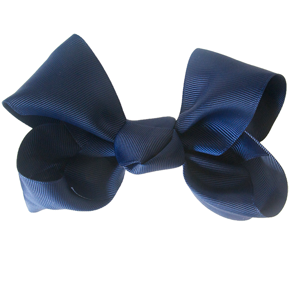 Evelyn Big Knot Bow - Navy