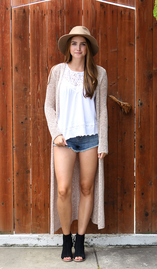 Billabong Castaway Duster Sweater