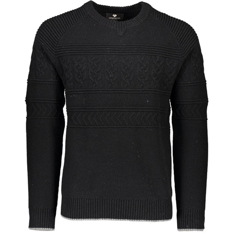 Obermeyer Mens Snow Base Layer Textured Crewneck Sweater