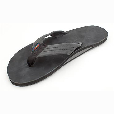Rainbow Mens Sandals Single Layer Premier Leather Black