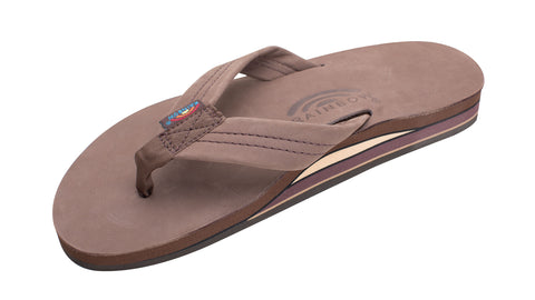 Rainbow Mens Sandals Double Layer Premier Leather