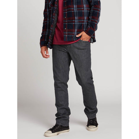 Volcom Mens Denim Vorta Slim Fit Jeans