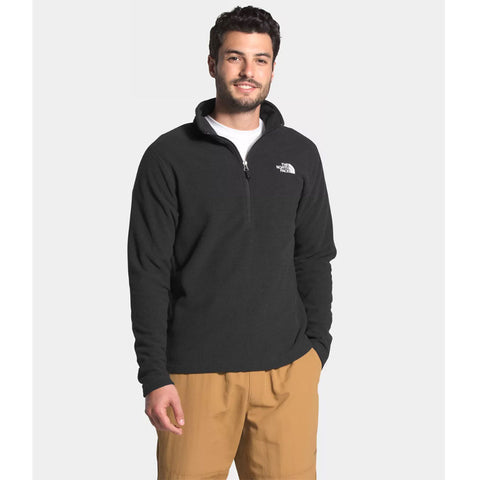 The North Face Mens Base Layers Textured Cap Rock 1/4 Zip Fleece