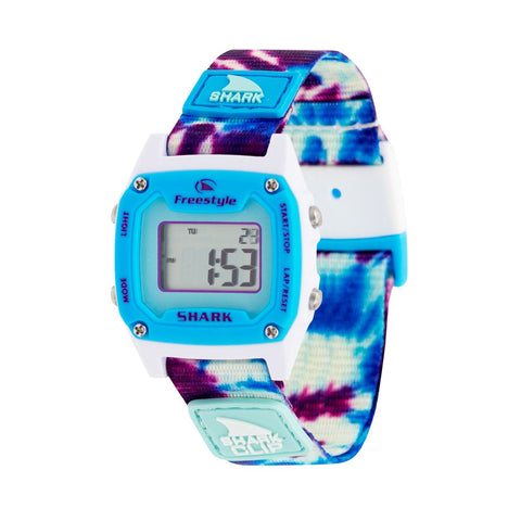 Freestyle Watch Shark Clip Mini Tie Dye Blue Daze