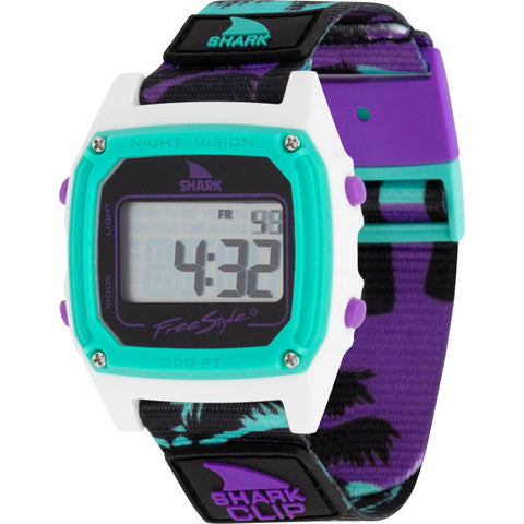 Freestyle Watch Shark Clip Purple Sunset