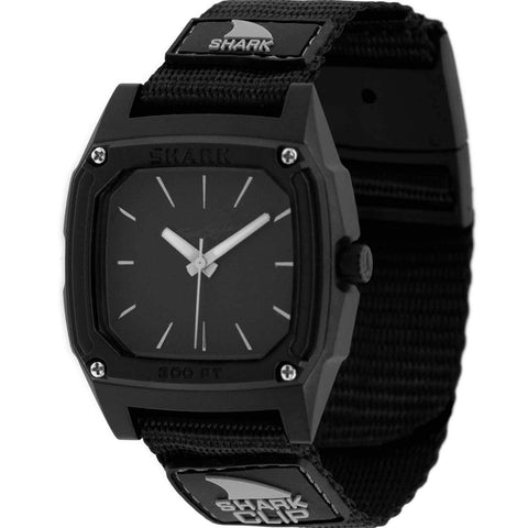 Freestyle Watch Shark Clip Analog Black Out