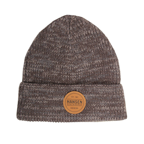 Hansen Beanie Leather Patch