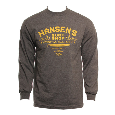 Hansen Mens Shirt Surf Yuppie LS