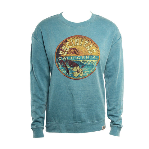 Hansen Womens Sweatshirt Wave Badge Crew