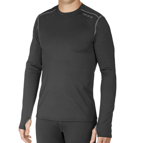 Hot Chillys Mens Base Layers Micro-Elite Chamois Crewneck