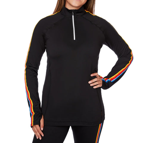 Hot Chillys Womens Base Layers Micro-Elite Chamois Retro Ski Zip-T