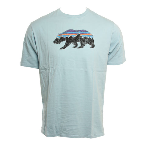 Patagonia Mens Shirt Fitz Roy Bear Organic Cotton