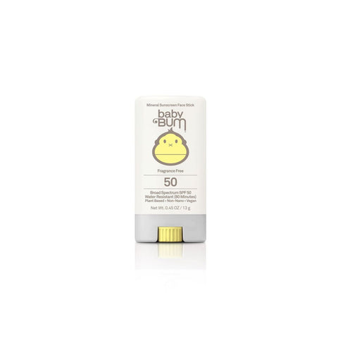 Sun Bum Sunscreen Baby Bum SPF 50 Mineral Face Stick Fragrance Free .45 oz