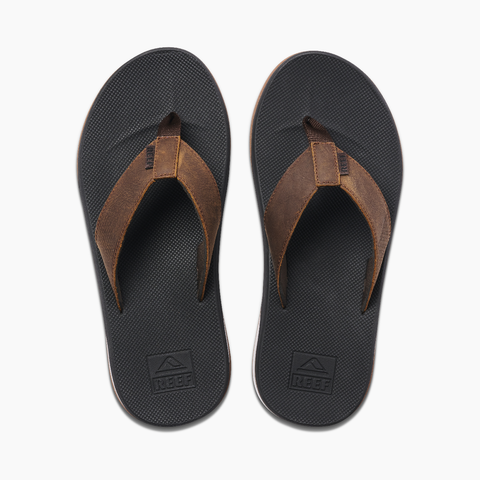 Reef Mens Sandals Leather Fanning Low