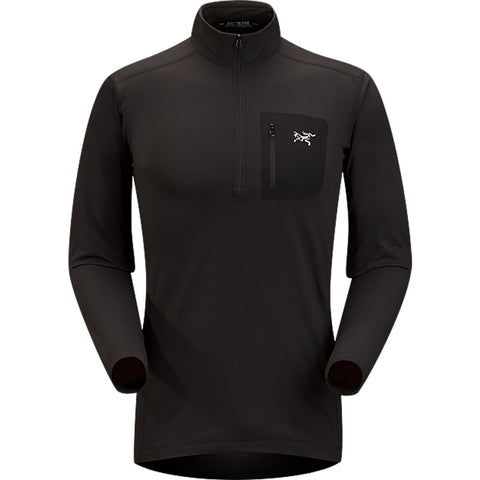 Arc'teryx Mens Snow Base Layer Top Rho LT Zip Neck
