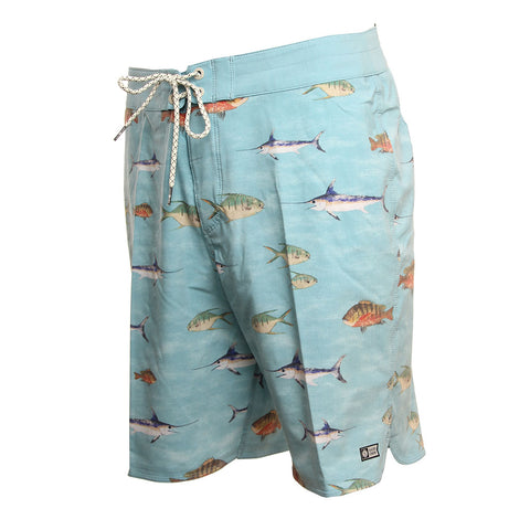 Salty Crew Mens Boardshorts Fish Stamp