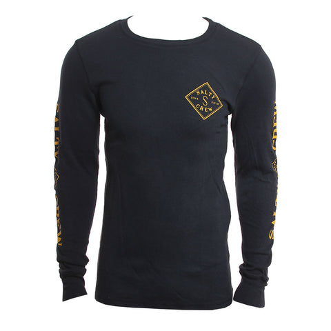 Salty Crew Mens Shirt Tippet Navy Thermal Long Sleeve