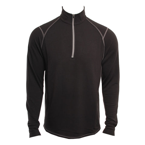 Toes On The Nose Mens Shirt Barrel LS Raglan Half Zip