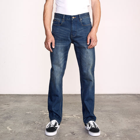 RVCA Mens Denim Weekend Straight Fit Jeans