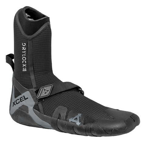 Xcel Mens Surf Booties Drylock 5mm Round Toe