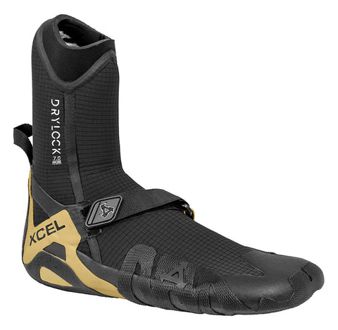 Xcel Mens Surf Booties Drylock 7mm Round Toe