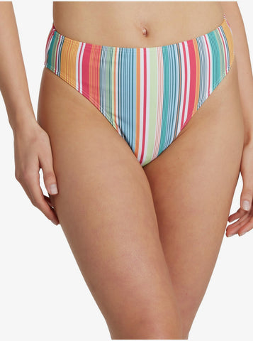 Roxy Womens Bikini Bottom Mexi Stripe High Leg