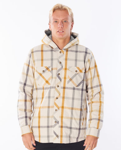 Rip Curl Mens Shirt Barlow Hooded Flannel
