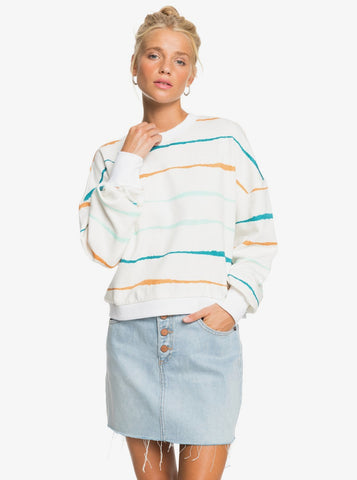 Roxy Womens Sweatshirt Bay Rolling